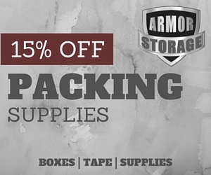 save on packing supplies at Armor Storage in Lacey, WA